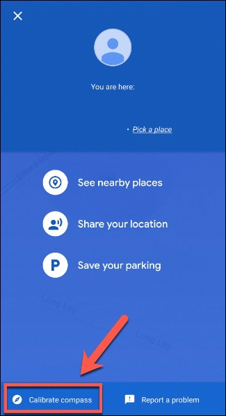 Google maps on android device