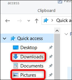 Pictures in windows