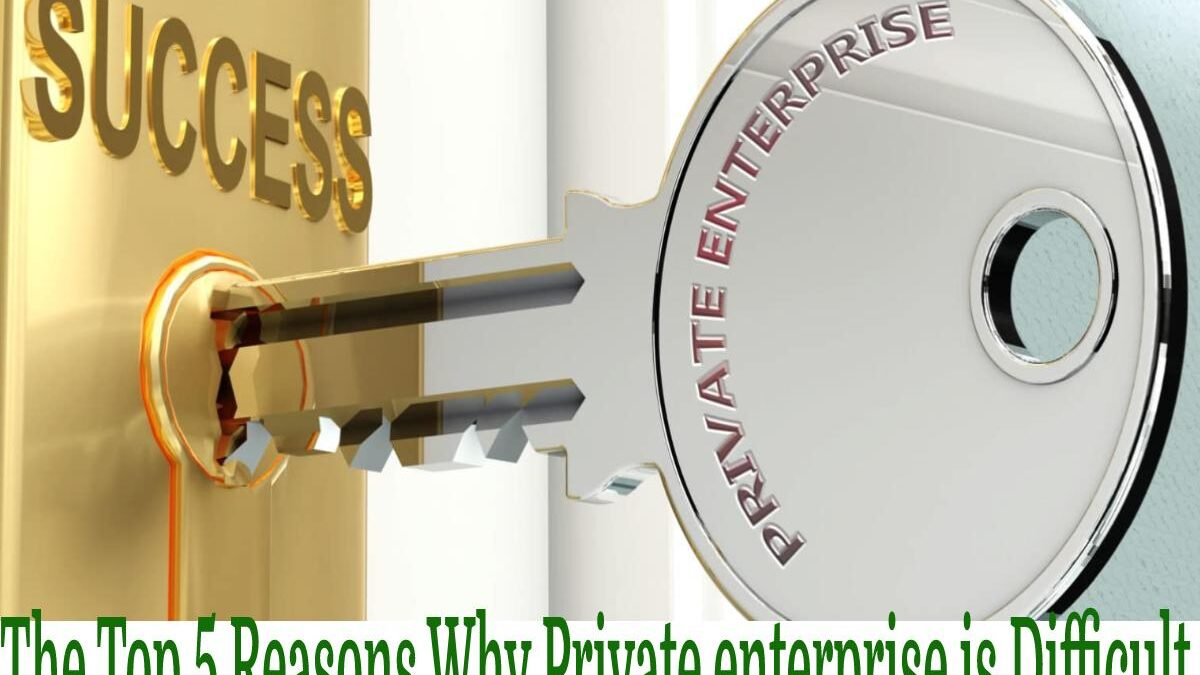 The Top 5 Reasons Why Private enterprise is Difficult